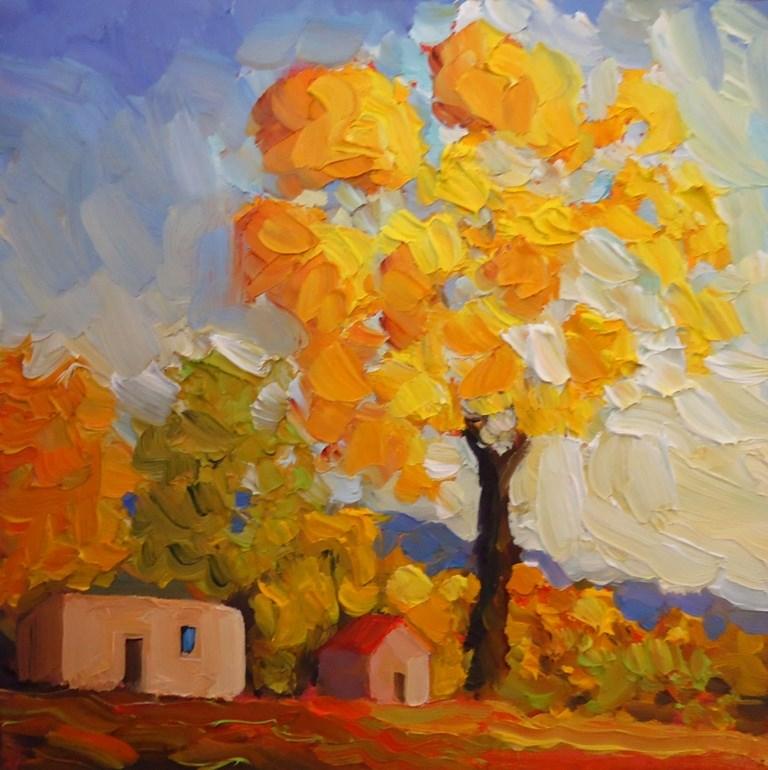 """GOLDEN CASITA"" original fine art by Dee Sanchez"