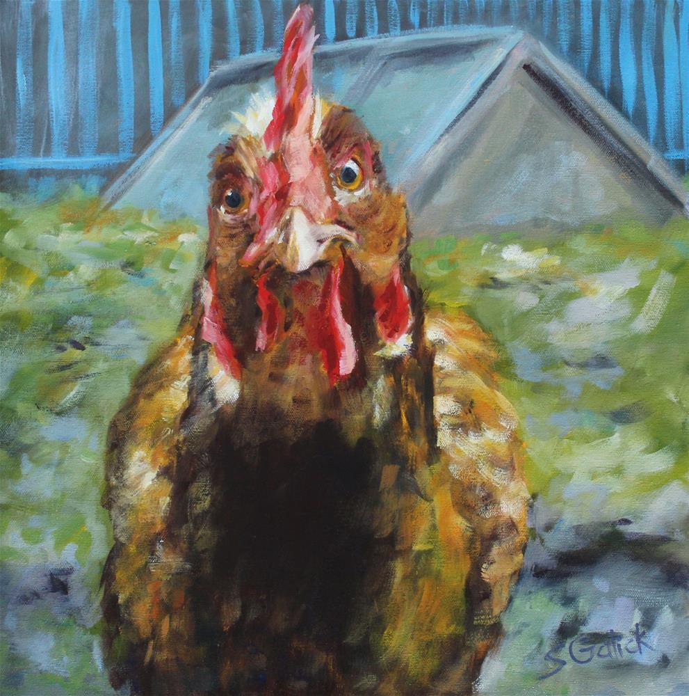 """""""Hen House"""" original fine art by Susan Galick"""