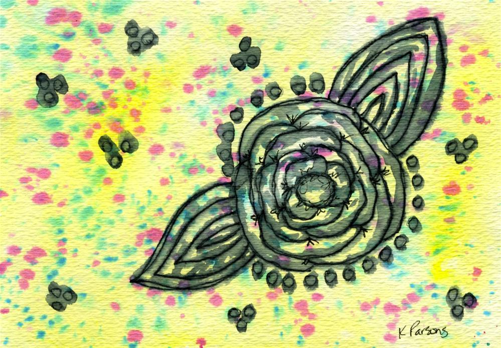 """On Yellow"" original fine art by Kali Parsons"