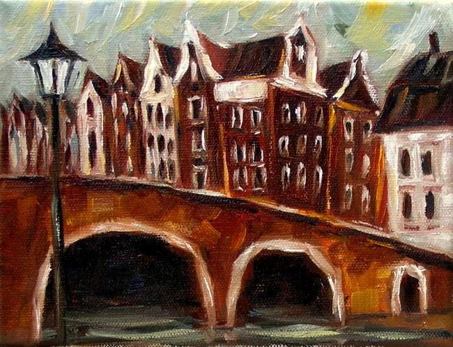 """Amsterdam on a Cloudy Day"" original fine art by Irina Beskina"