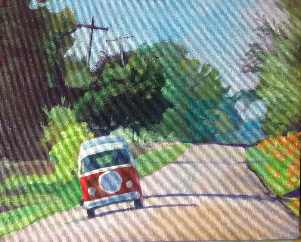 """VW on Holiday"" original fine art by Susan Suraci"