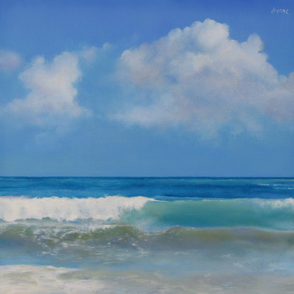"""Ocean and Sky"" original fine art by Oriana Kacicek"