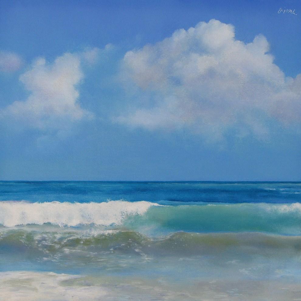 """Ocean and Sky"" original fine art by Oriana Kacicek"