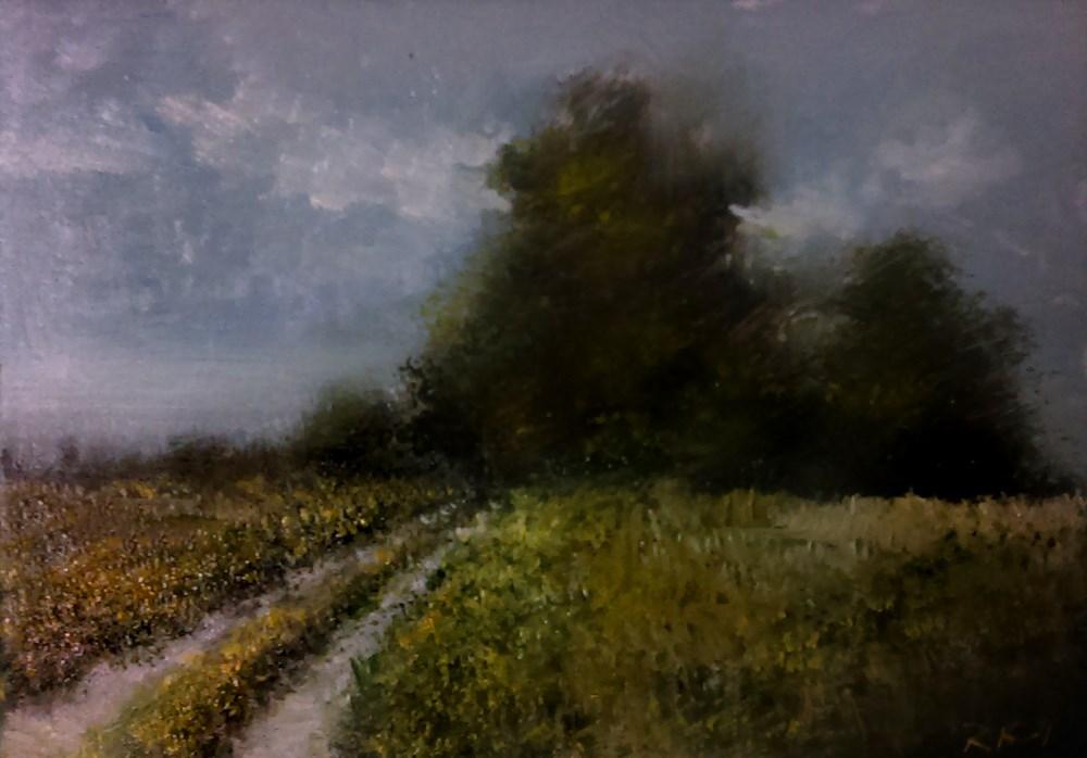 """Distant Mist"" original fine art by Bob Kimball"