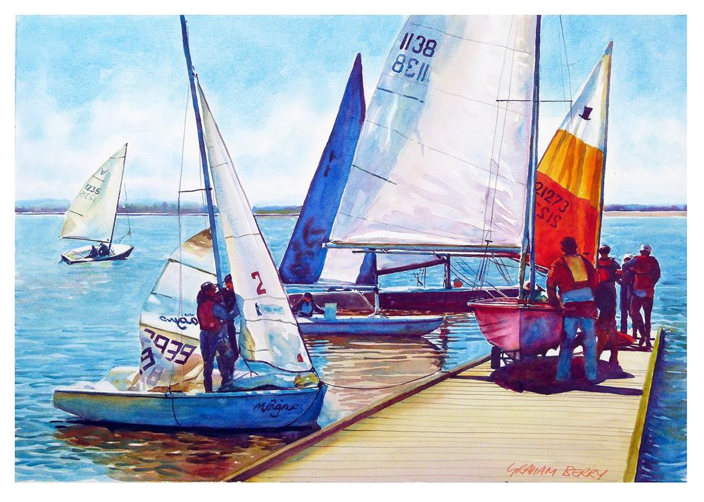 """Getting ready to race."" original fine art by Graham Berry"