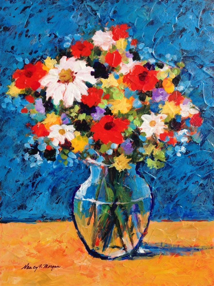 """Faith in Flowers"" original fine art by Nancy F. Morgan"