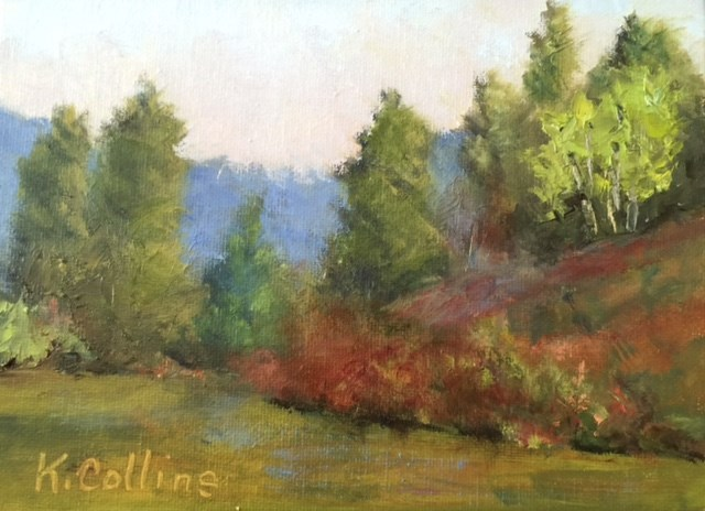 """Up on the Hill"" original fine art by Kathy Collins"