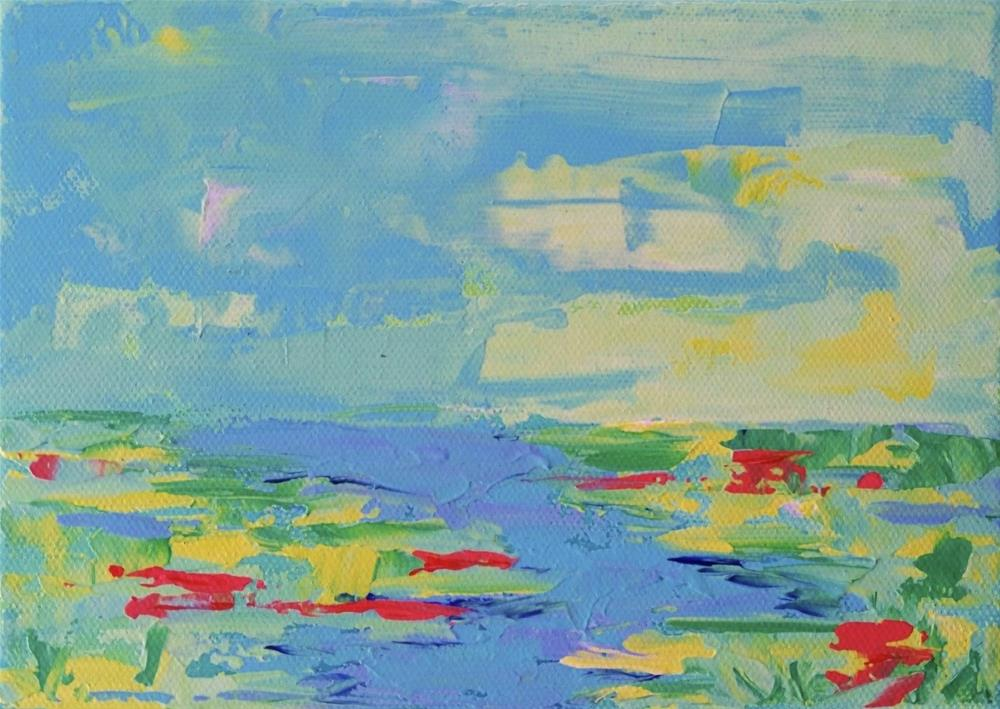"""39 - Peaceful Waters"" original fine art by Lisa Whitener"