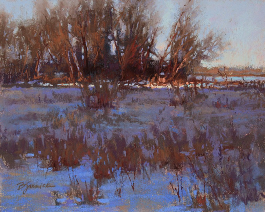 """Winter Light Fading"" original fine art by Barbara Jaenicke"