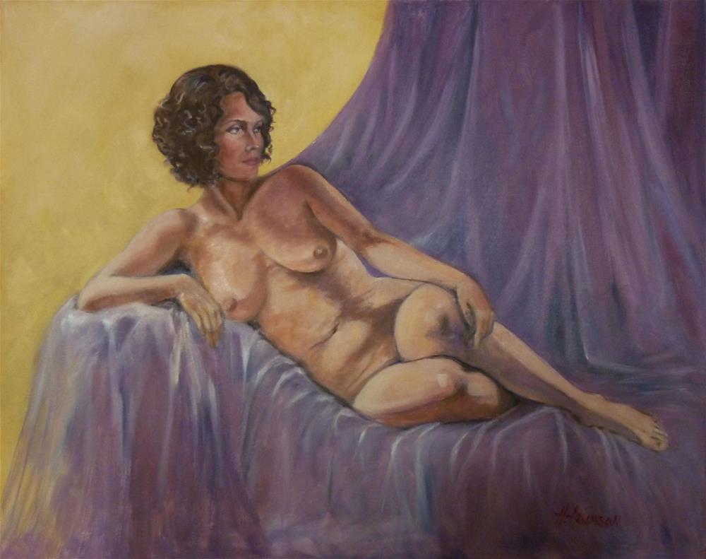 """Salon"" original fine art by Helene Adamson"