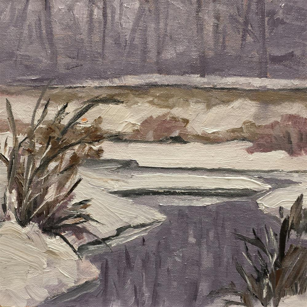 """More Winter"" original fine art by Judith Fletcher"