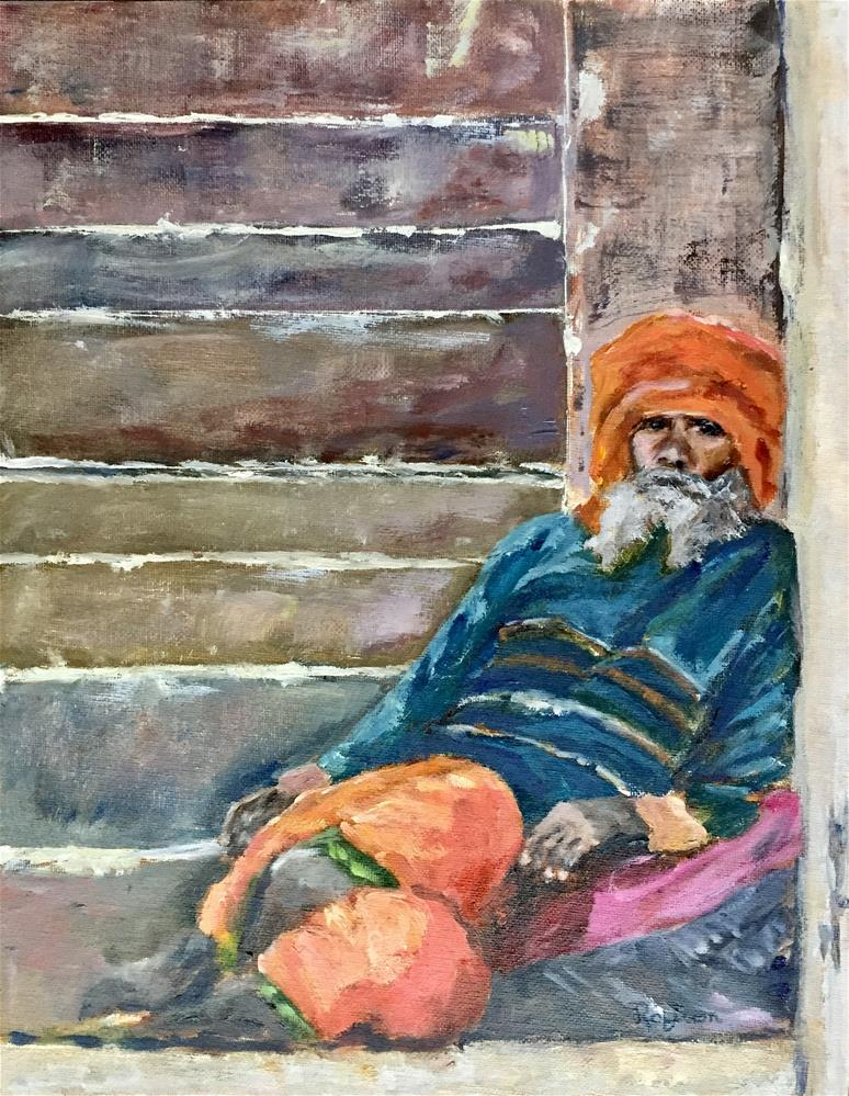 """Man from Vernasi"" original fine art by Renee Robison"