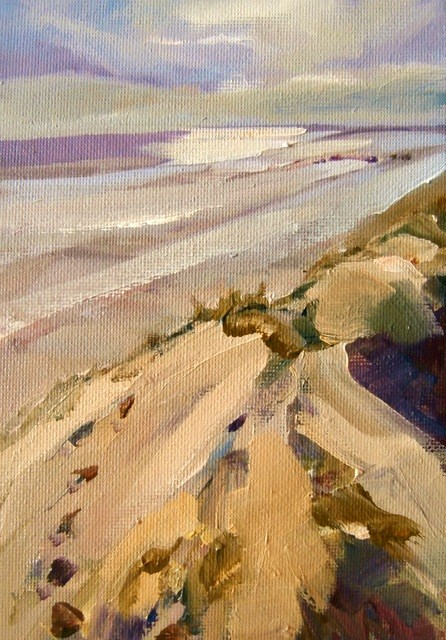 """Dune bank and shore"" original fine art by Anne Wood"
