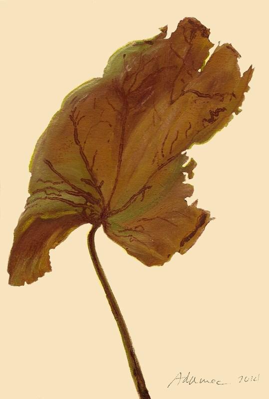 """Dried Leaf #1"" original fine art by Carol L Adamec"