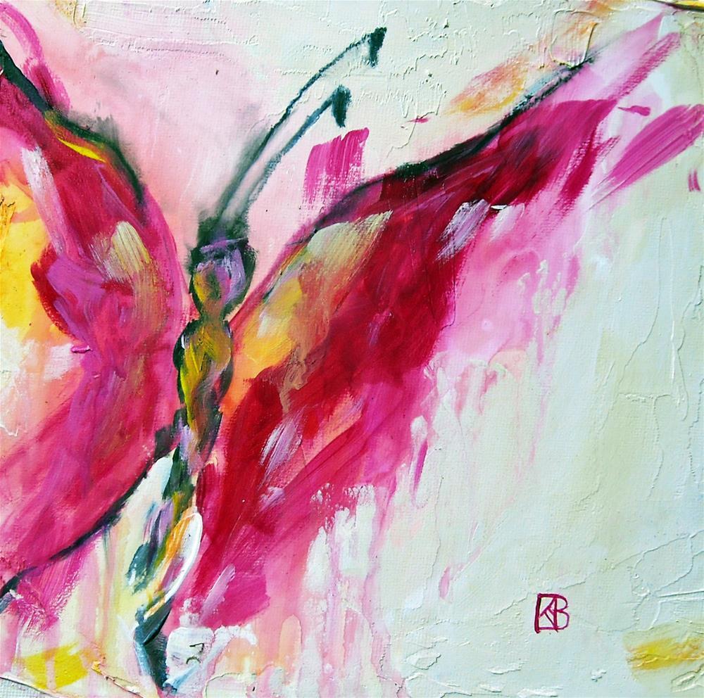 """Schaparelli Wings"" original fine art by Kathleen Barnes"