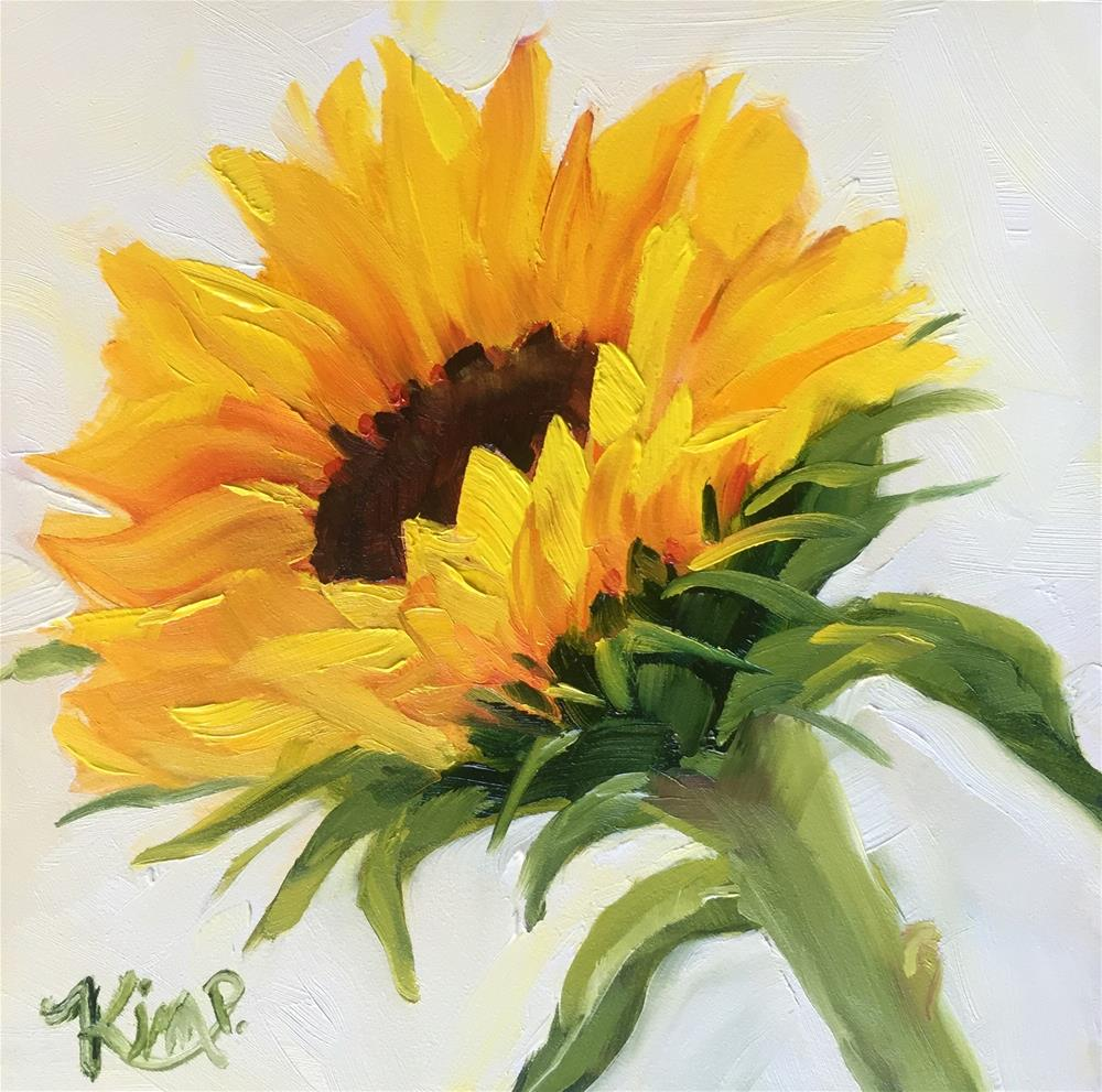 """Sunflower study"" original fine art by Kim Peterson"