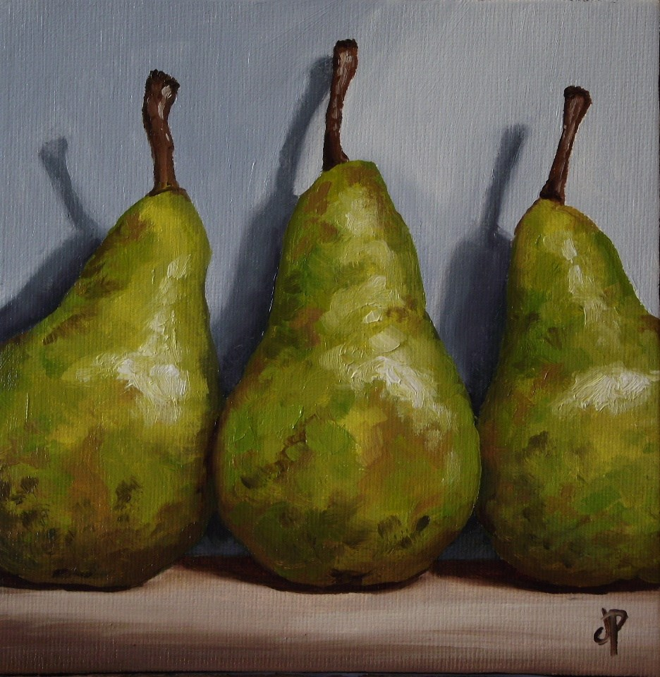 """Pear Conference"" original fine art by Jane Palmer"