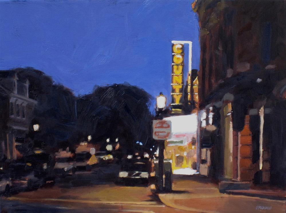 """County Theater"" original fine art by Dan Graziano"