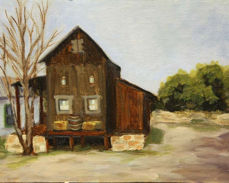 """Old Feed Store"" original fine art by Jane Frederick"