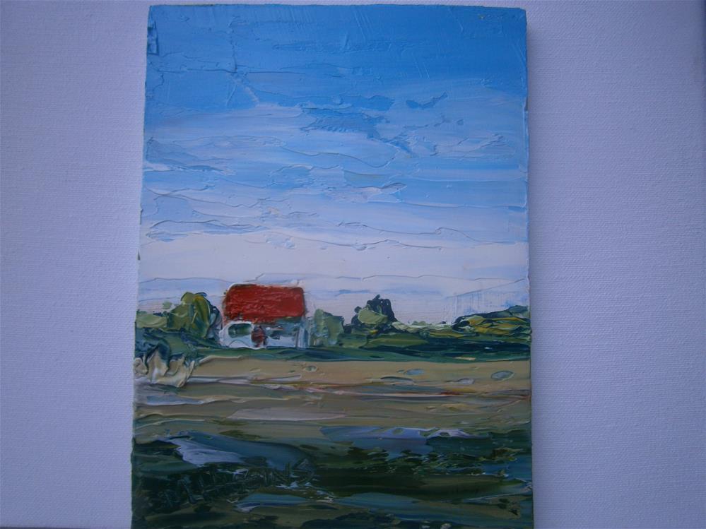 """RUSTIC FARMHOUSE"" original fine art by Marie O' Higgins"
