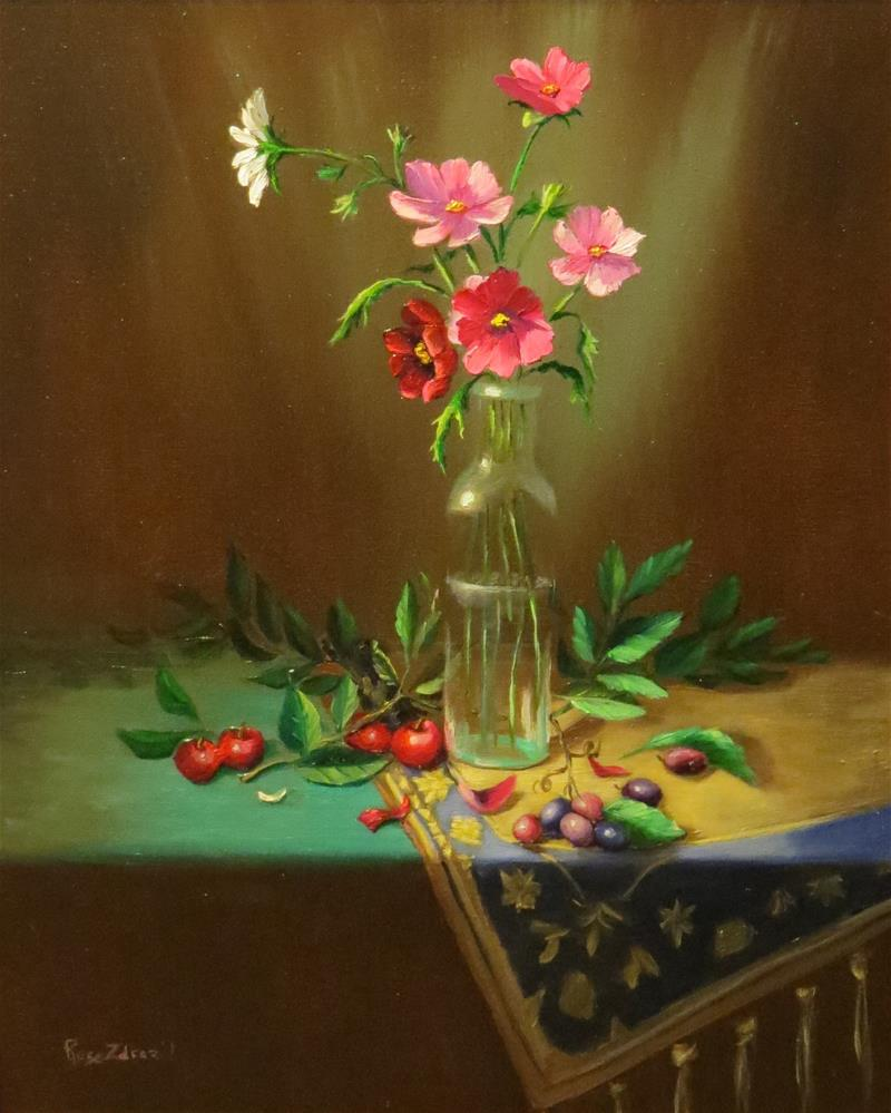 """Cosmos"" original fine art by Rose Zdrazil"