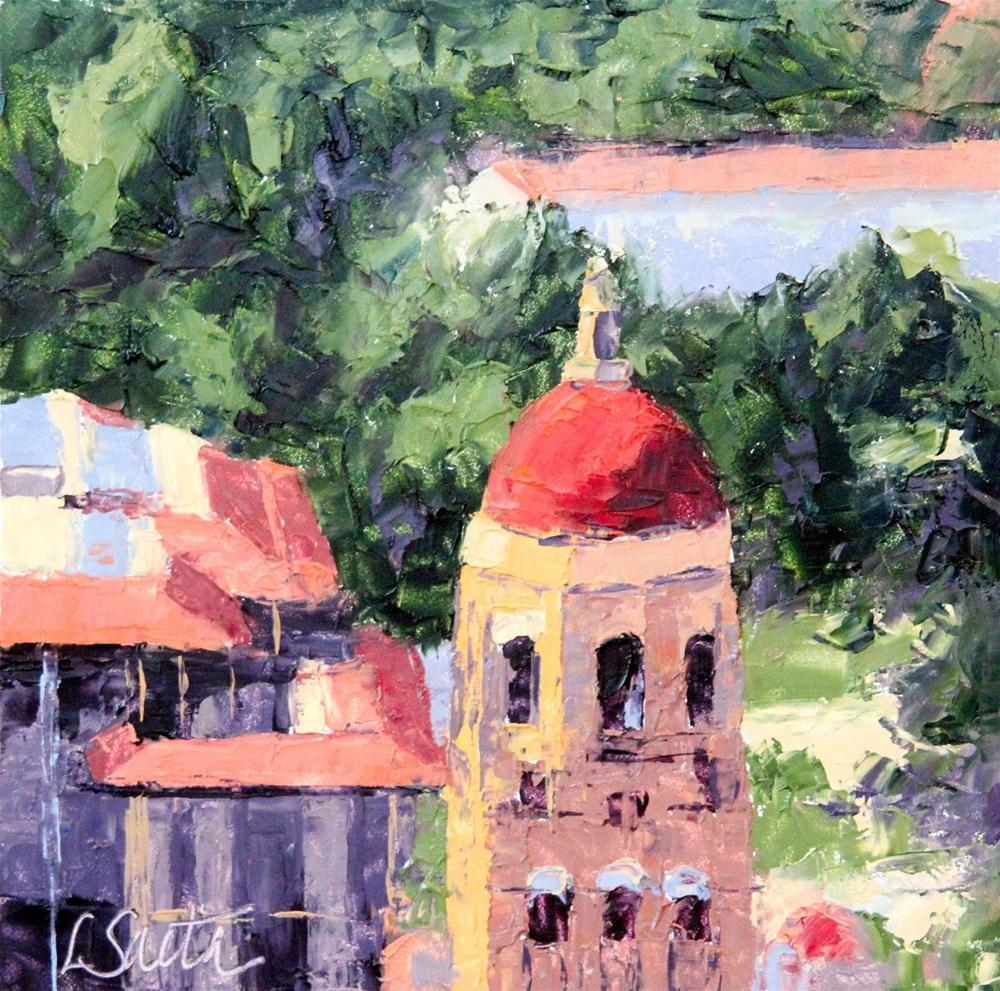 """On Campus"" original fine art by Leslie Saeta"