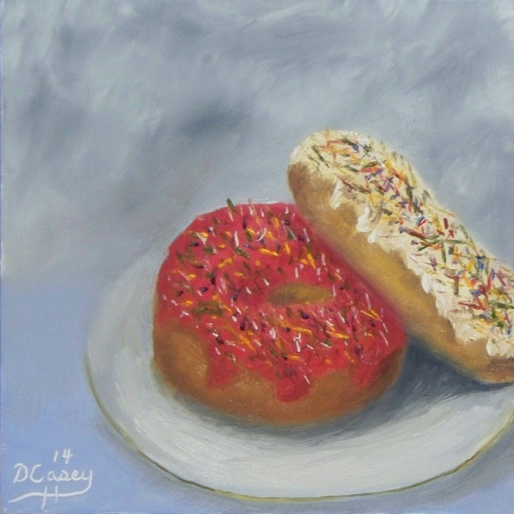 """Kitchen Painting - Donuts 001"" original fine art by Dave Casey"