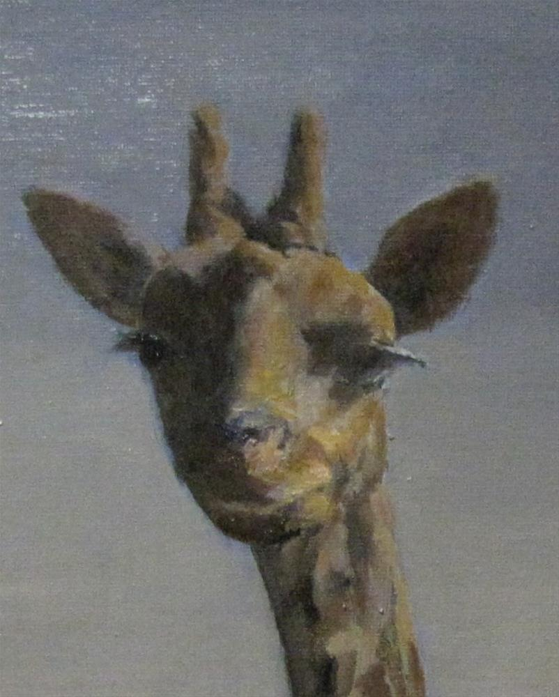 """Zoo critter"" original fine art by tom dawson"