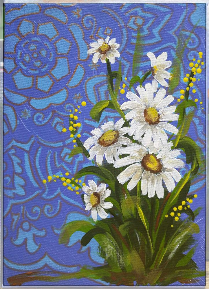"""Daisy Cluster"" original fine art by Jodi Workman"