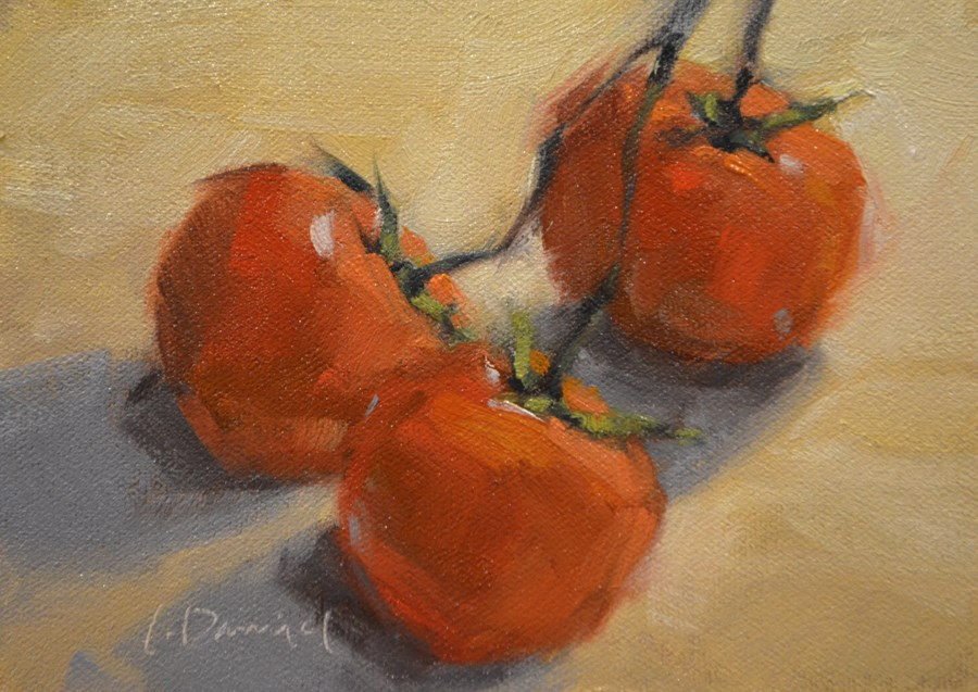 """Vine Ripened - Twelve of 30 in 30"" original fine art by Laurel Daniel"