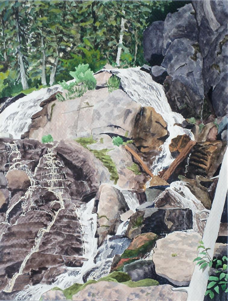 """Snyder Creek Falls"" original fine art by Greg Arens"