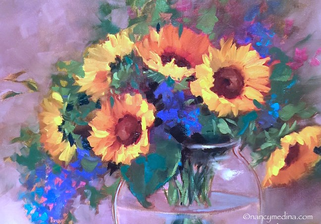 """A Taste of Italy and Sunflower Dreams"" original fine art by Nancy Medina"