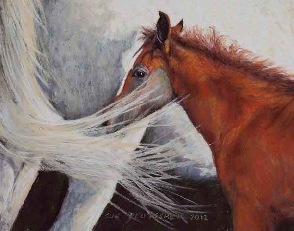 """""""Arabian foal"""" original fine art by Sue Deutscher"""