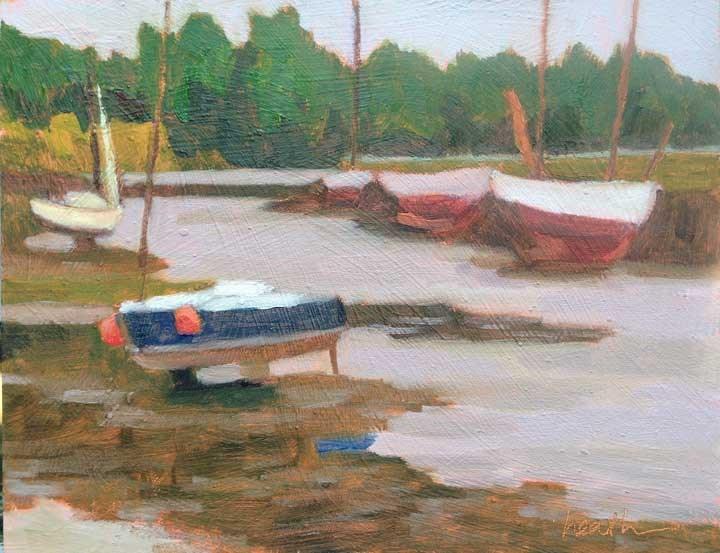 """Low Tide at Pont-Aven"" original fine art by Bobbi Heath"