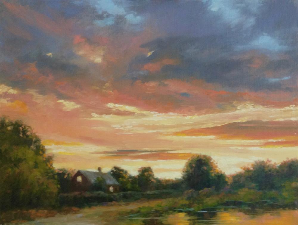 """Evening Sky"" original fine art by Nancy Wahl"
