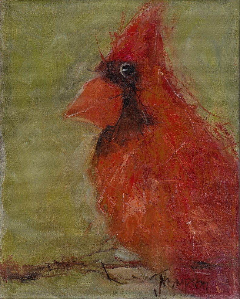 """Large Cardinal"" original fine art by Norma Thompson"