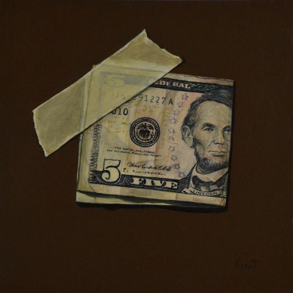 """""""Lincoln"""" original fine art by Kim Testone"""