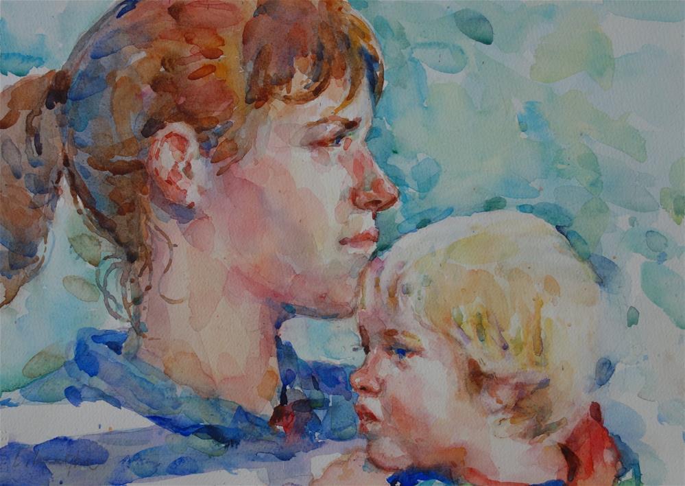 """""""Love's nurture"""" original fine art by Lorraine Lewitzka"""