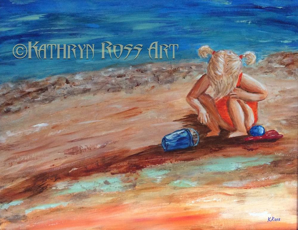 """Beach baby"" original fine art by Kathryn Ross"
