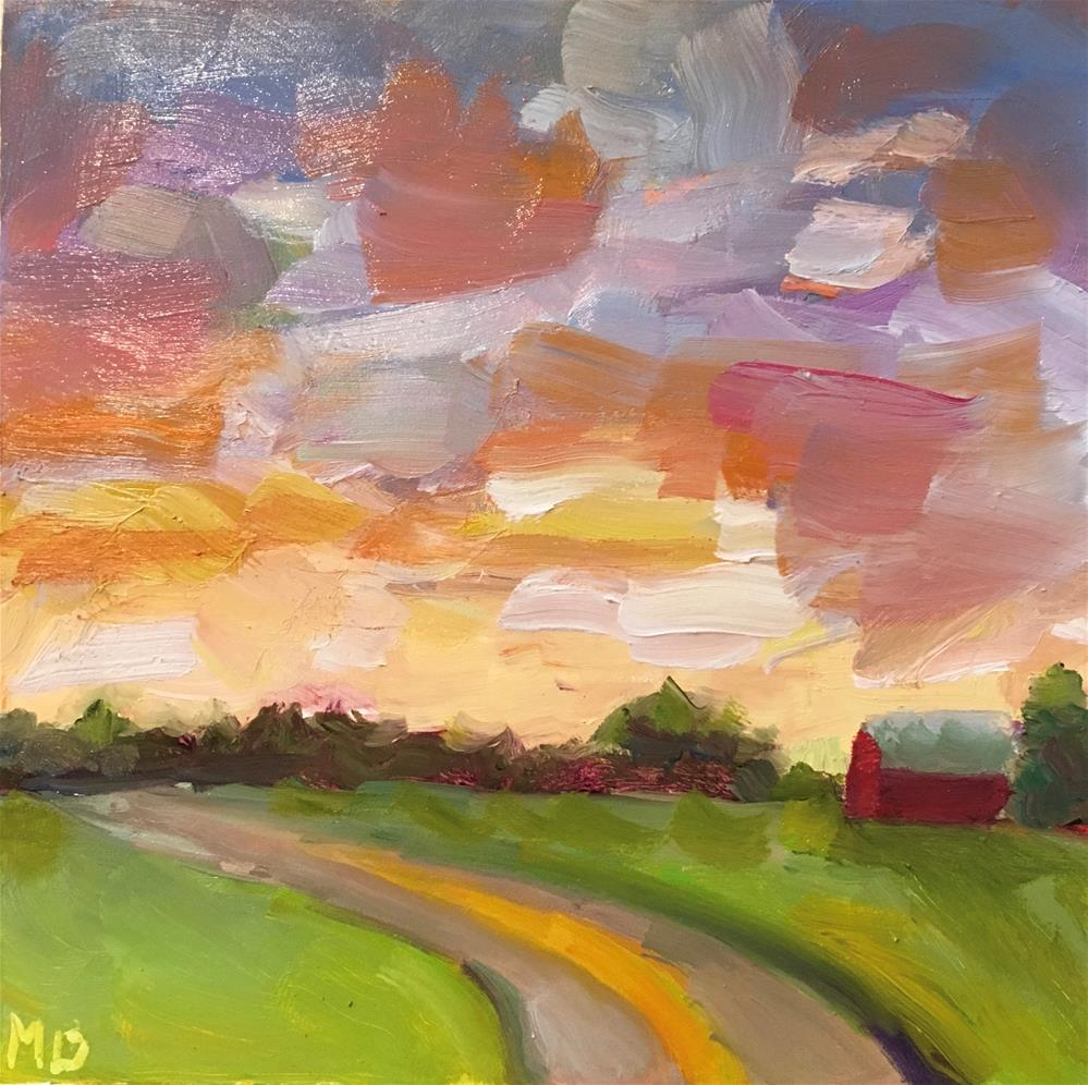 """Sunlit Hayfield"" original fine art by Marcia Bergtholdt"