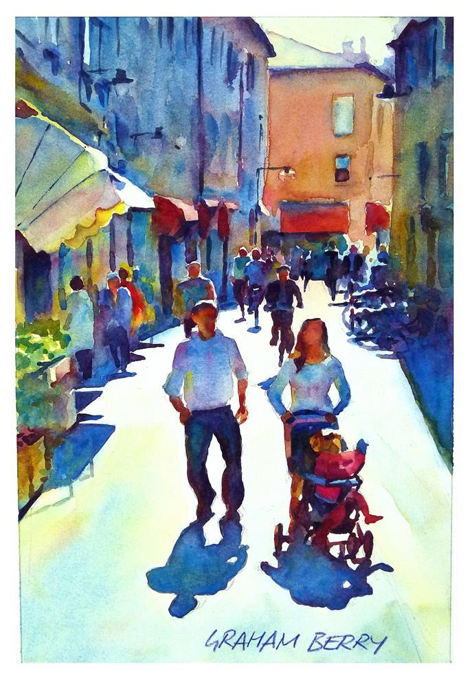"""""""Family walk."""" original fine art by Graham Berry"""