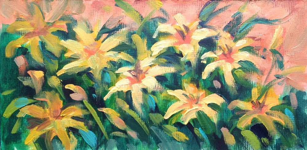 """Day Lily Study"" original fine art by Jeanne Bruneau"