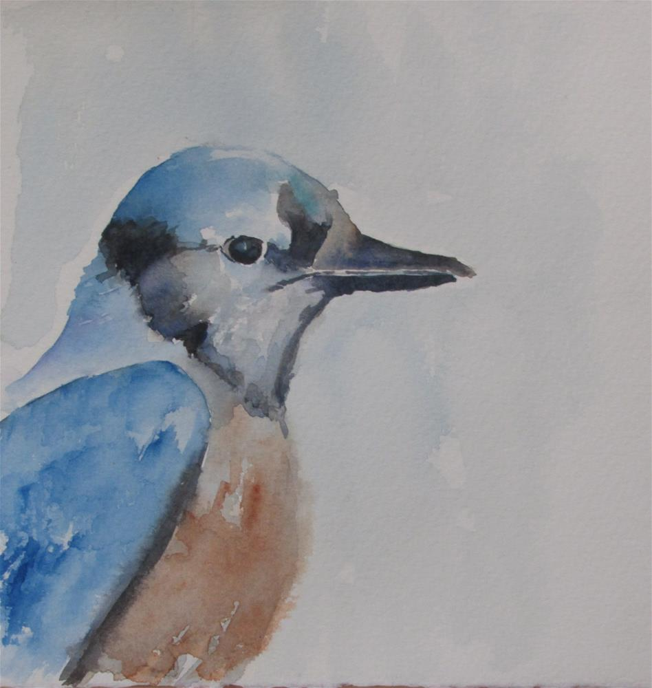 """Bluebird"" original fine art by Yolanda Moreno"