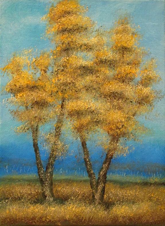 """Landscape Mini30"" original fine art by Mary Sylvia Hines"