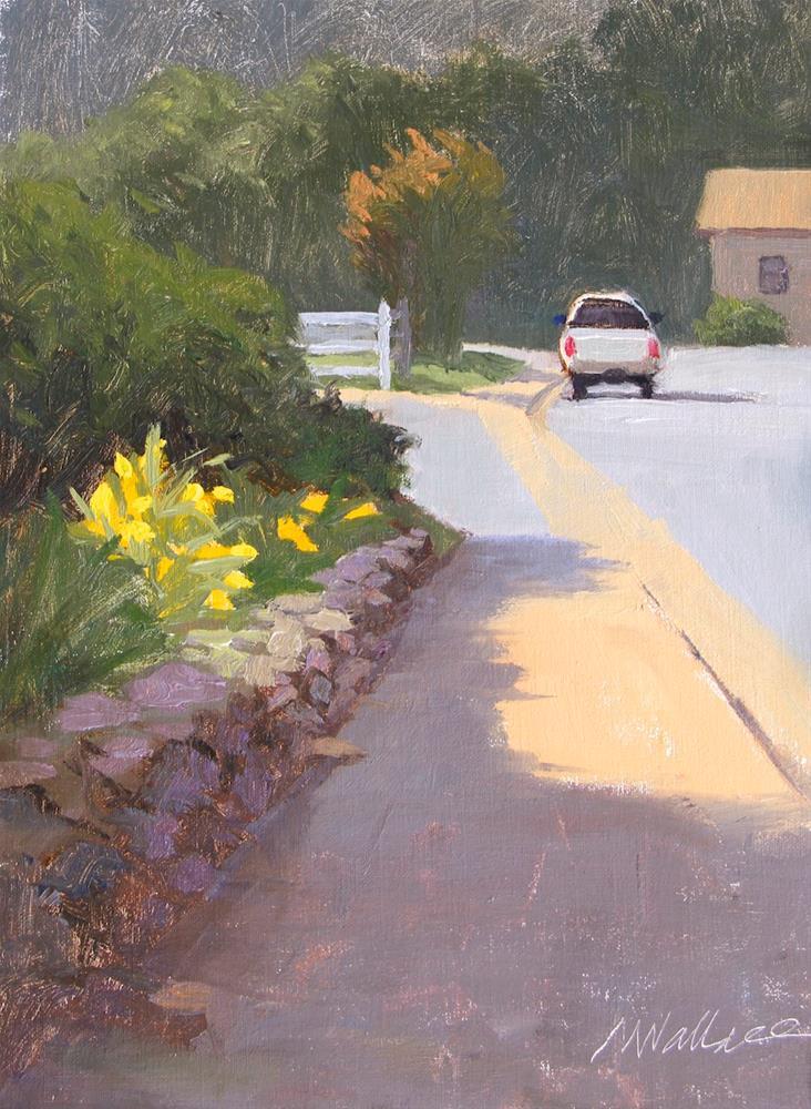 """""""#63 Sidewalk garden"""" original fine art by Nancy Wallace"""