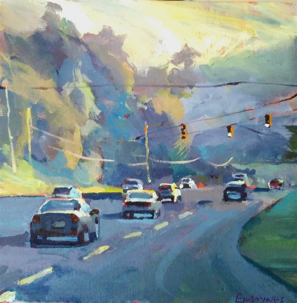 """North Carolina Sunrise"" original fine art by Liz Maynes"