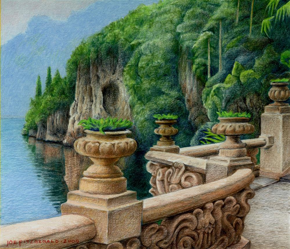 """Villa Balbianello"" original fine art by Joe Fitzgerald"