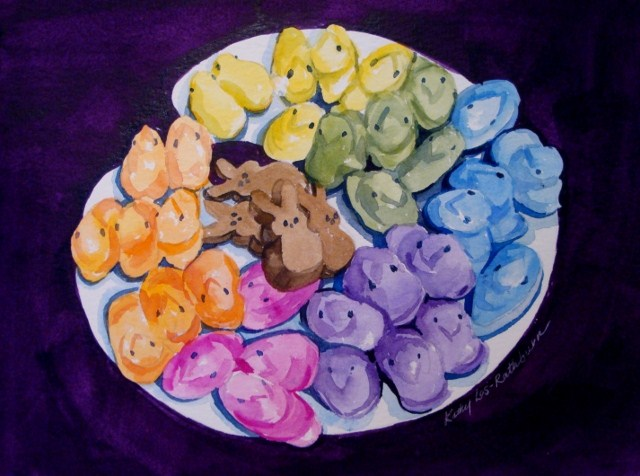 """My Easter Palette"" original fine art by Kathy Los-Rathburn"