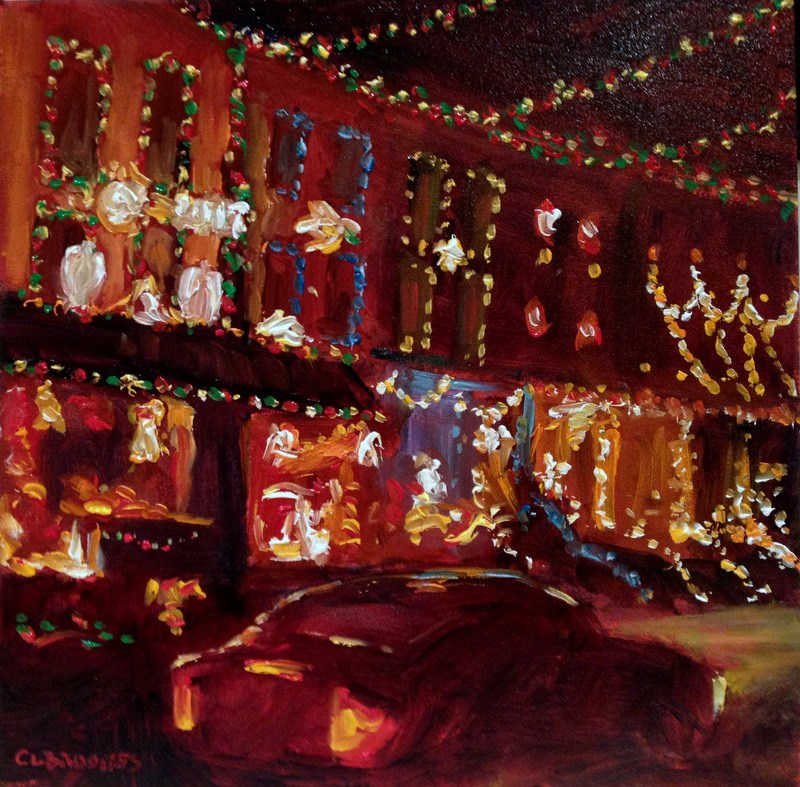 """34th Street Christmas V, Day 79"" original fine art by Claudia L Brookes"