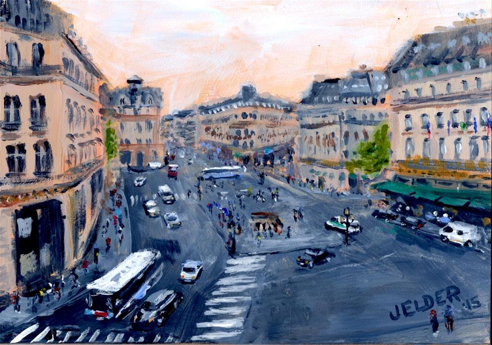 """Paris No. 70"" original fine art by Judith Elder"